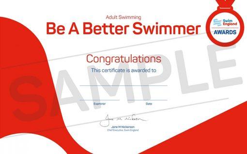 Swim England Adult Learn to Swim Awards
