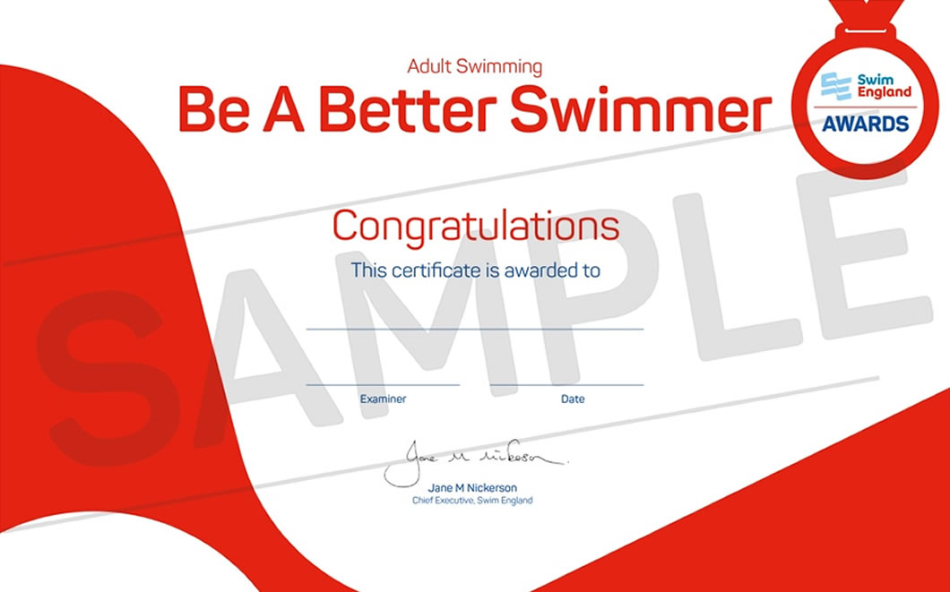 Adult Swimming Awards