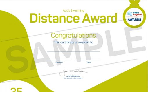 Adult Distance Swimming Award